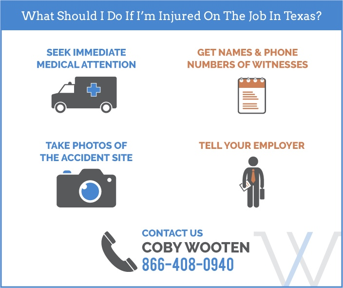 On the Job Injuries infographic